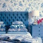 Комната в сине-белых оттенках