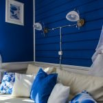 Синий в интерьере комнат