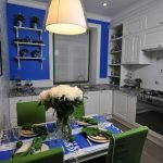 Синий цвет в дизайне кухни