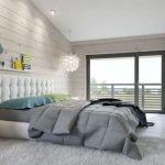 Люстра в форме цветка в спальне