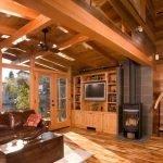 Печь на дровах в интерьере