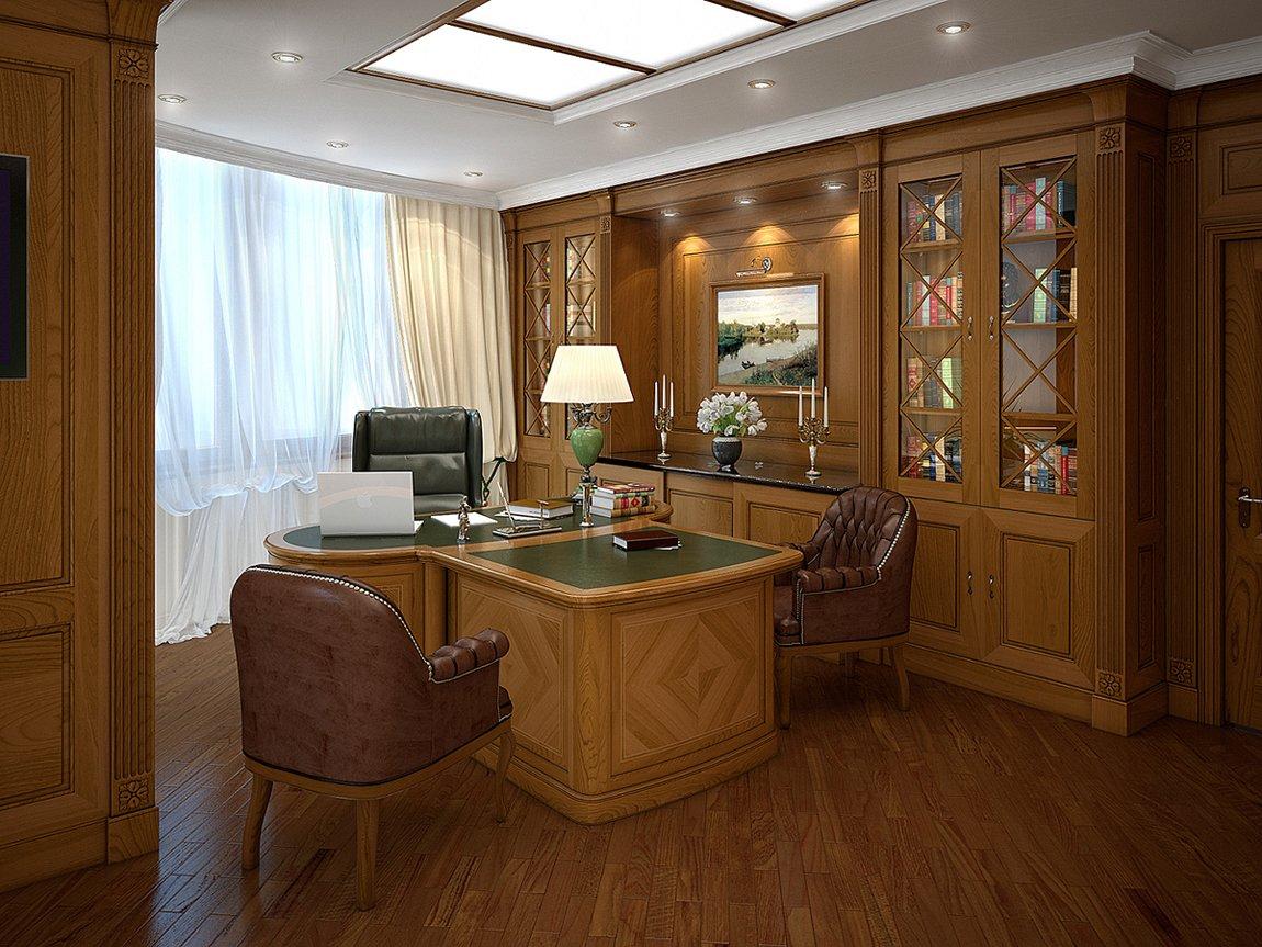 Освещение кабинета в классическом стиле