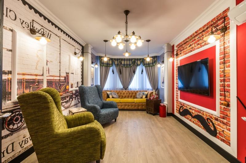 Красный цвет в интерьере в лондонском стиле