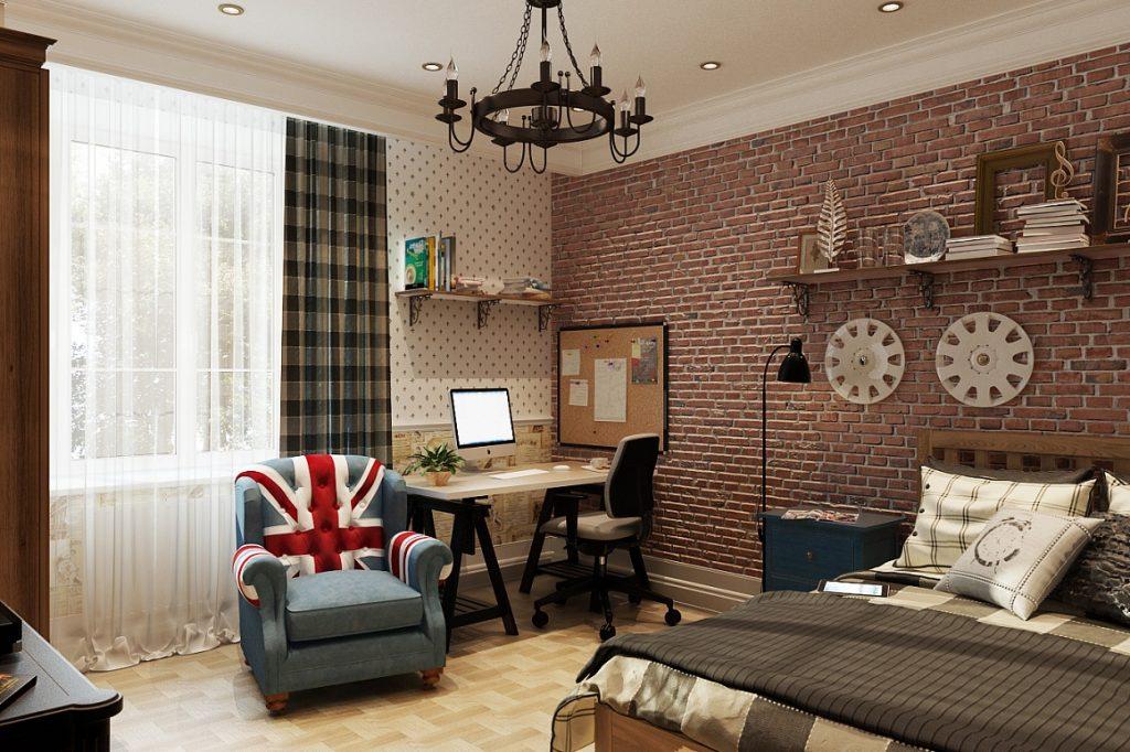 Текстиль в интерьере в лондонском стиле