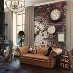 Часы над диваном