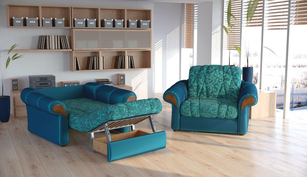 Зеленое кресло-кровать