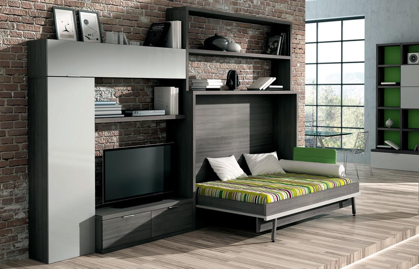 Кровать-комод в гостиной