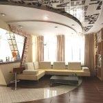 Натяжной потолок с принтом журнал
