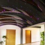 Темно-фиолетовый натяжной потолок