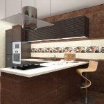 Шоколадный цвет в дизайне кухни