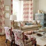 Кресла с цветочным принтом