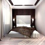 Шоколадный в интерьере спальни