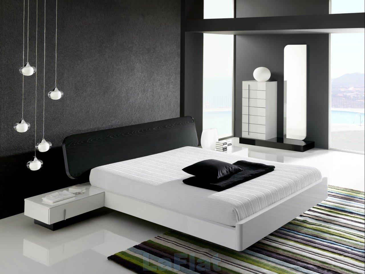 Черные акценты в интерьере спальни