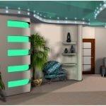 Зеленый в дизайне помещения