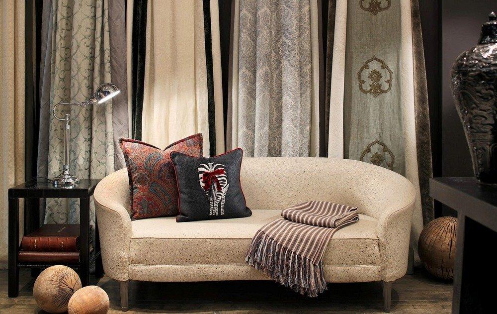 Интерьер с текстилем