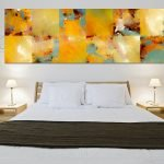 Ваза с сухоцветом в спальне