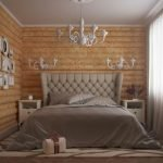 Фото на стене в спальне