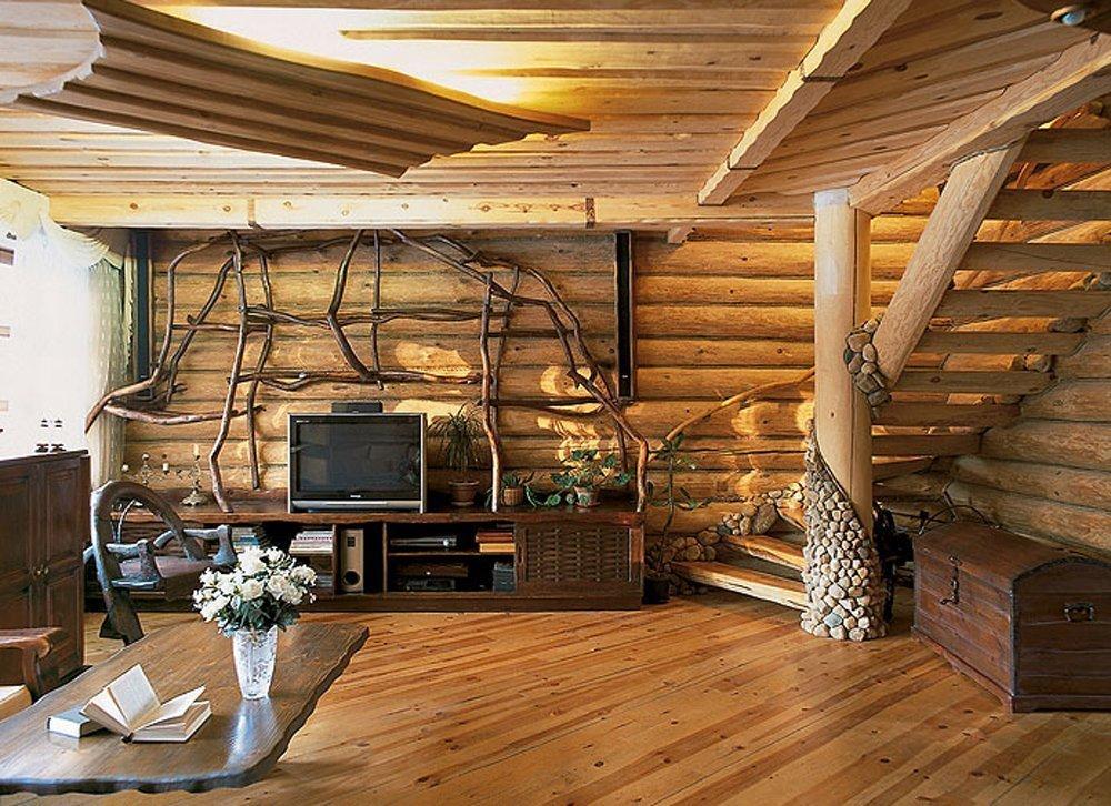 Блок-хаус в интерьере в стиле кантри