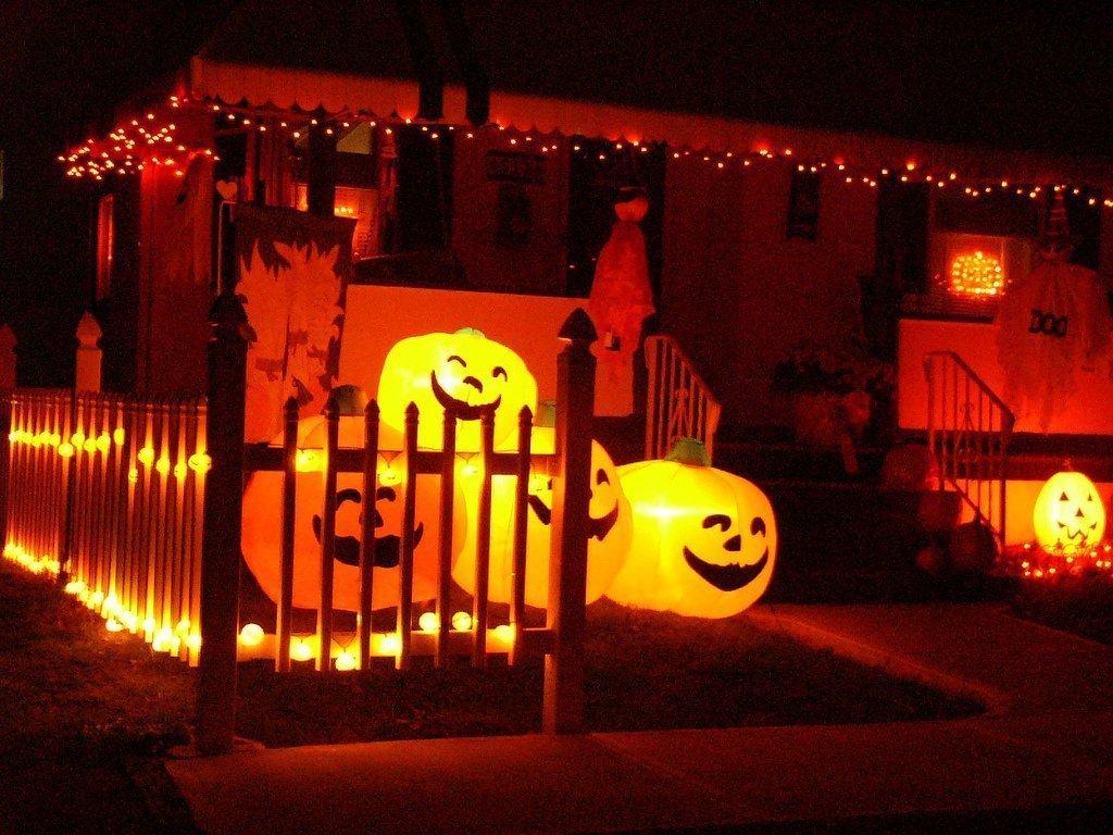 Освещение на хэллоуин