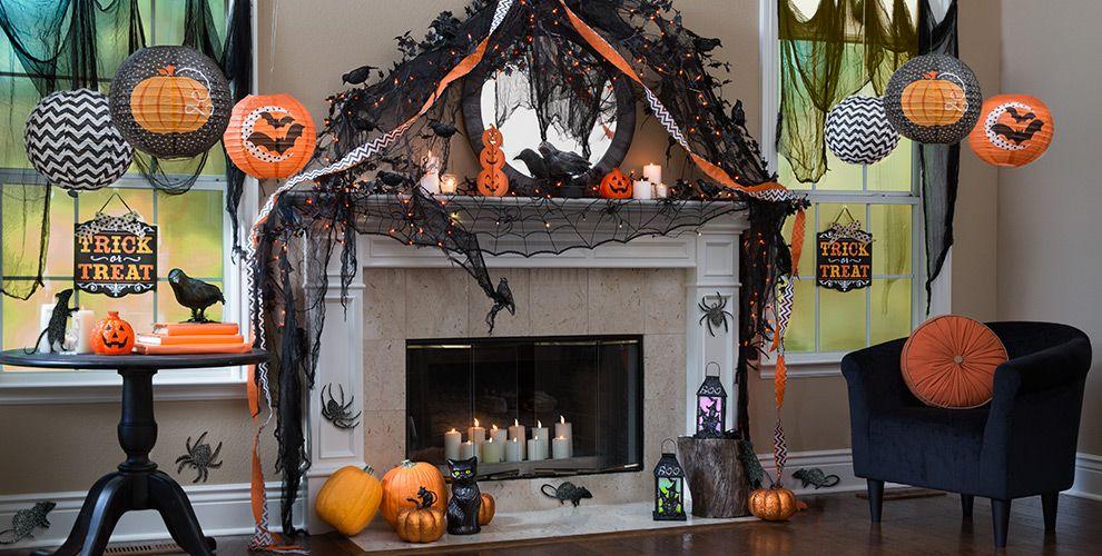 Черный и оранжевый цвета в оформлении хэллоуина
