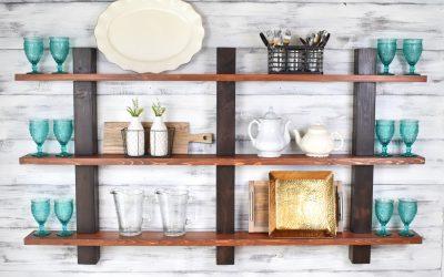 Декоративные полки для кухни своими руками