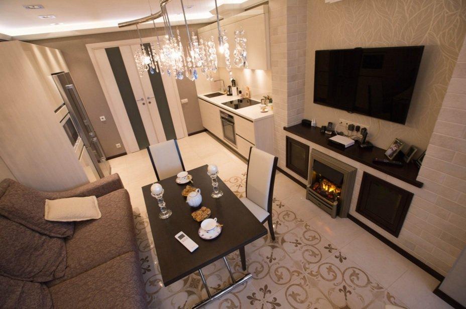 Двухкомнатная квартира 44 кв м в стиле модерн