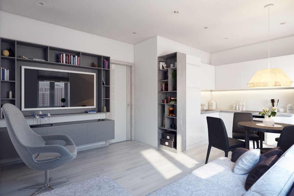 Оформление двухкомнатной квартиры 44 кв м