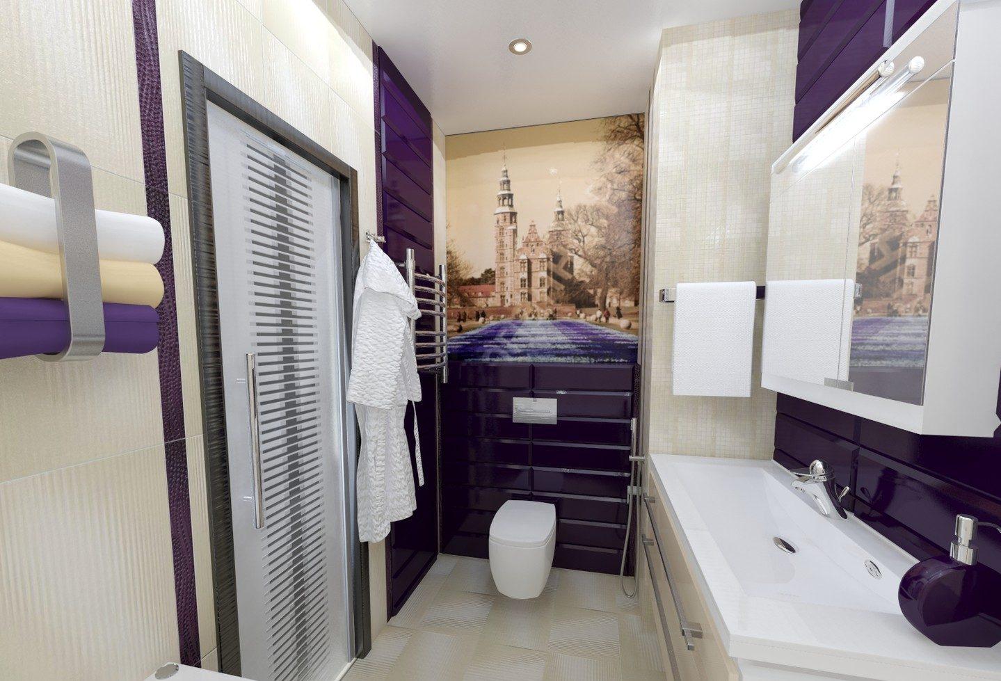 Санузел в двухкомнатной квартире 44 кв м