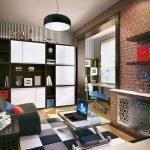 Кирпич в дизайне комнаты