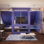 Фиолетовая комната для подростка