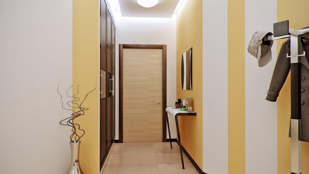 Дизайн потолка в коридоре