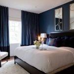 Синяя квадратная спальня