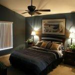 Черная с бежевым спальня