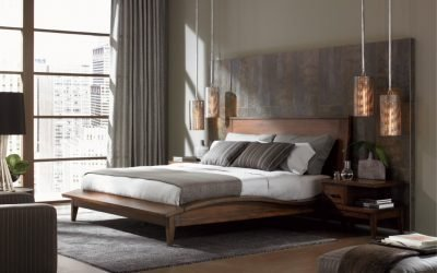 Спальня в стиле модерн — изящный современный дизайн