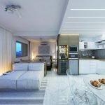 Диодный свет на кухне