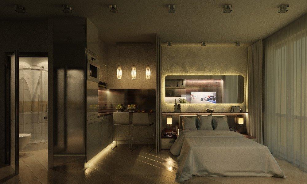 Подсветка на кухне и в спальне