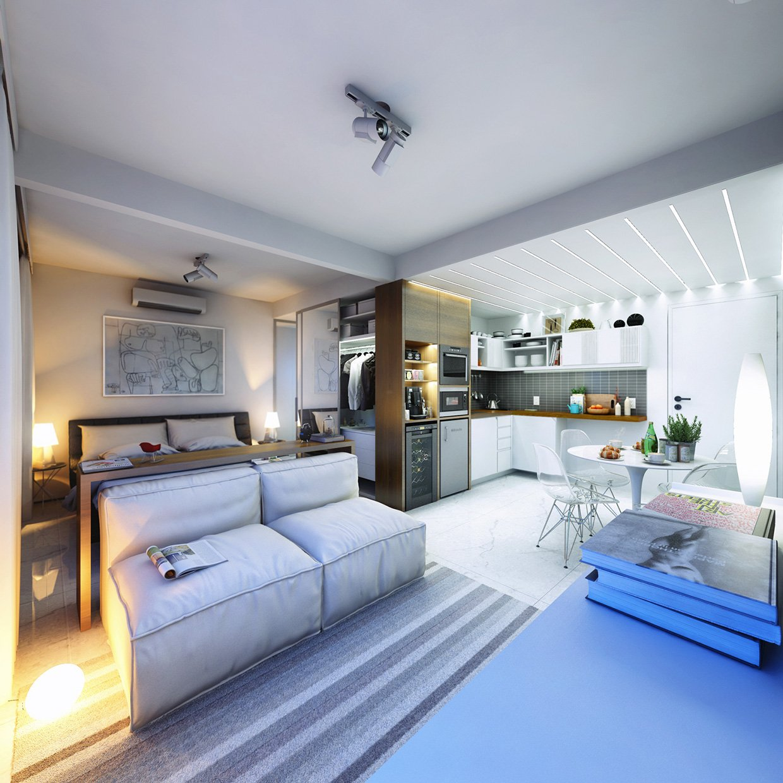 Лампы возле кровати