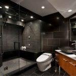Освещение в ванной комнате черного цвета