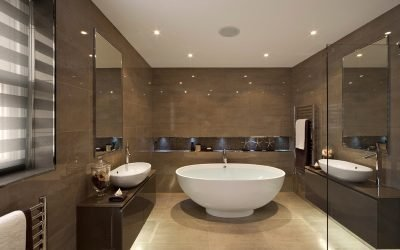 Дизайн ванной комнаты 9-10 кв. м