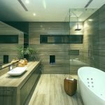 Керамогранитная плитка в отделке ванной