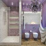 Сиренево-серая ванная
