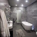 Точечная подсветка потолка в ванной