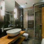 Маленькая ванная в стиле лофт