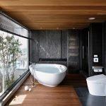 Белая угловая ванна