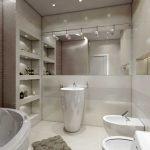 Бежевый в дизайне ванной