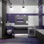 Фиолетовый цвет в дизайне ванной комнаты