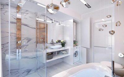 Ванная в стиле хай-тек: особенности дизайна