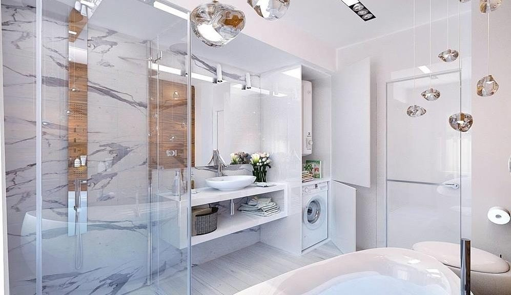 Необычные светильники для ванной