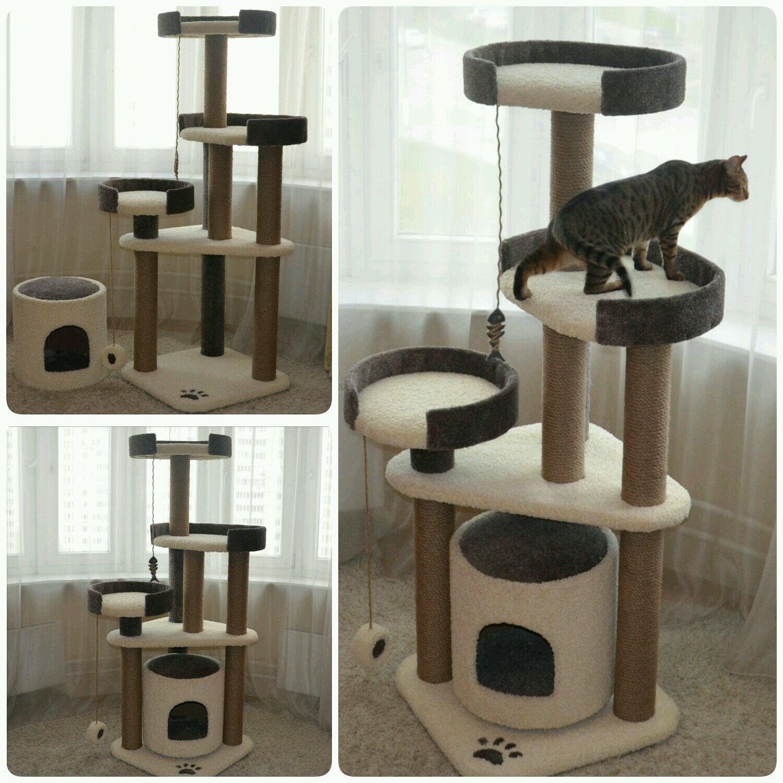 Игровые комплексы для кошек своими руками фото