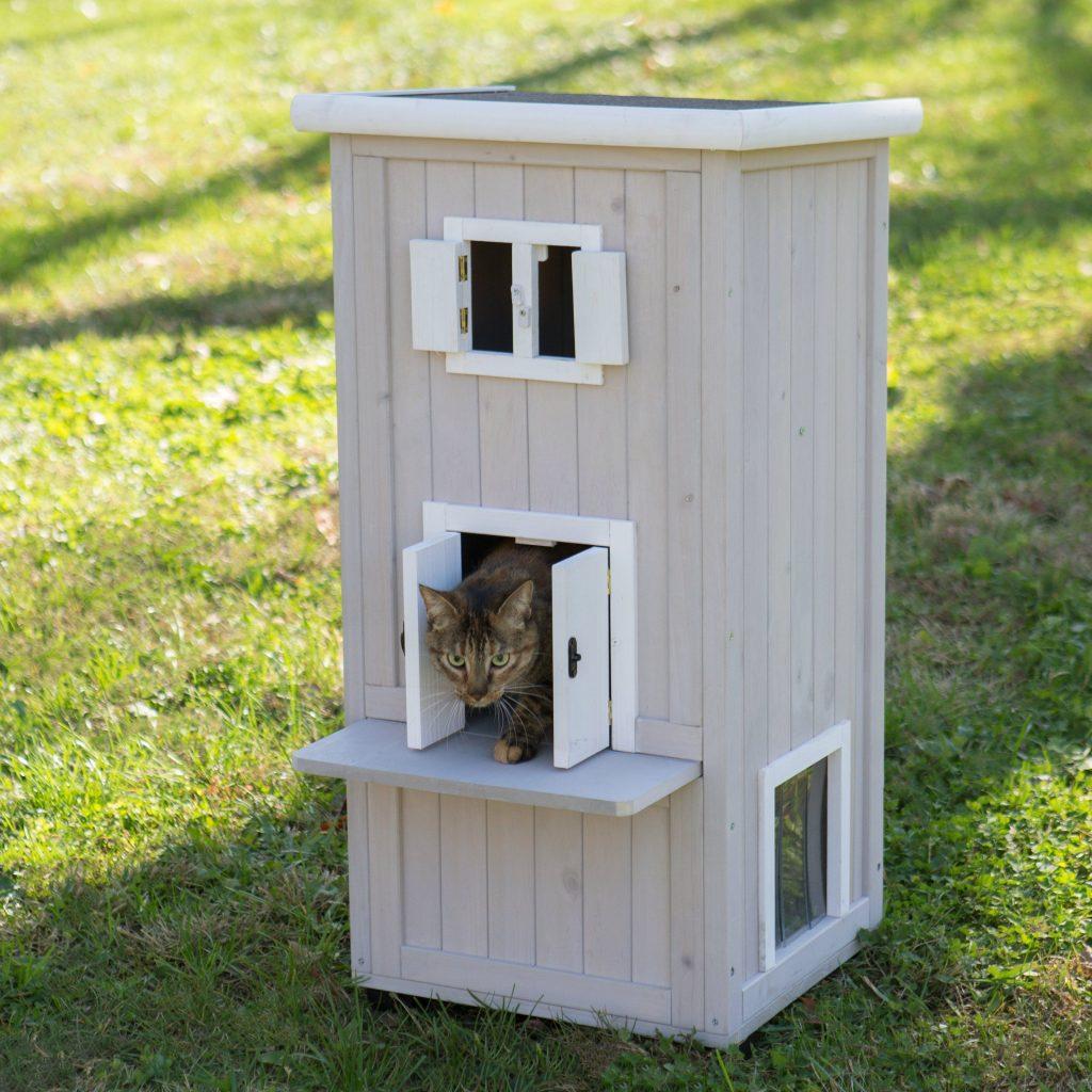 уличный домик для кошек фото затем свет появился